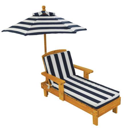 KIDKRAFT - Kidkraft Outdoor Chaise With Umbrella Navy