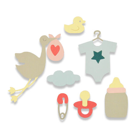 SIZZIX - Sizzix Thinlits Die Set New Baby by Debi Potter [Pack of 13]