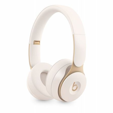 BEATS BY DR. DRE - Beats Solo Pro Ivory Wireless Noise-Cancelling On-Ear Headphones