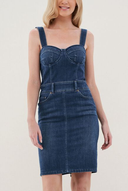 Salsa Jeans - Blue Denim Overall Dress