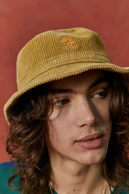 Urban Outfitters - Yellow UO low Nomad Corduroy Bucket Hat, Men