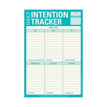 KNOCK KNOCK - Knock Knock Daily Intention Tracker Note Pad