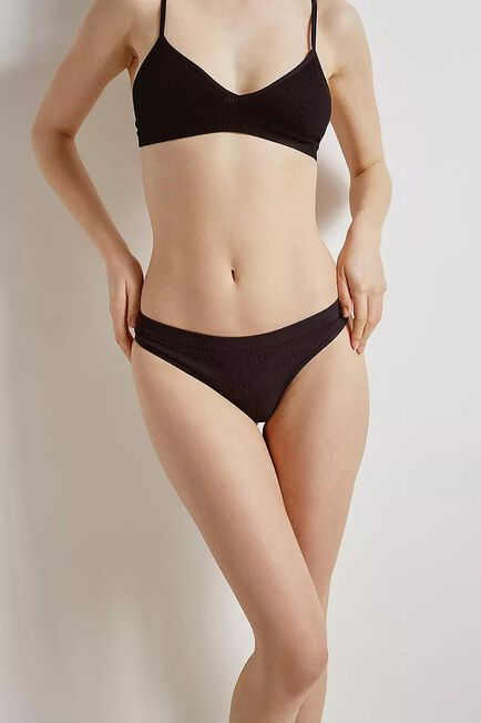 Urban Outfitters - Black Out From Under Markie Seamless Ribbed Thong, Women