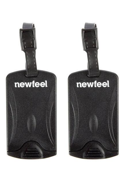FORCLAZ - Set Of 2 Travel Luggage Tags - Black, Unique Size