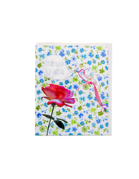 SOUL UK - Good Luck Bird And Flower Soulissimo Card