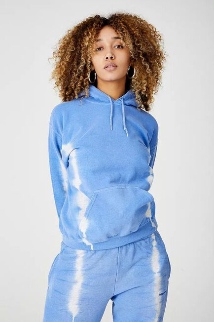 Urban Outfitters - Blue Iets Frans'.. Stripe Tie-Dye Hoodie