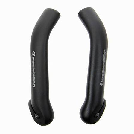 BTWIN - BLACK  Curved Bar Ends - Black, Black