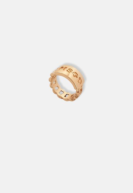 Missguided - Gold Missguided Chain Ring