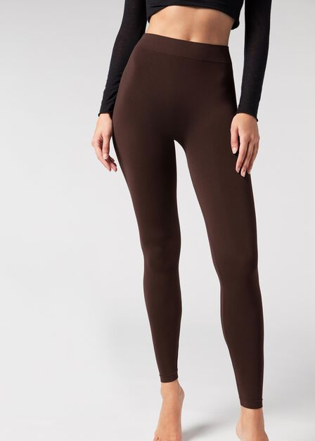 Calzedonia - Dark Brown Women's Super Opaque Microfibre Leggings