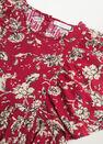 Mango - Red Printed Cotton Dress, Kids Girl