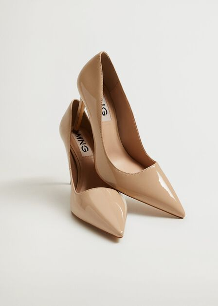 Mango - Light Beige Patent Leather Heel Shoes