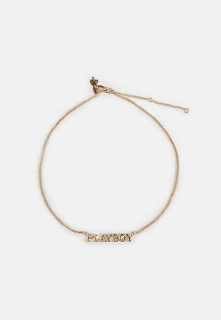 Missguided - Gold Playboy X Missguided Gold Look Chain Necklace