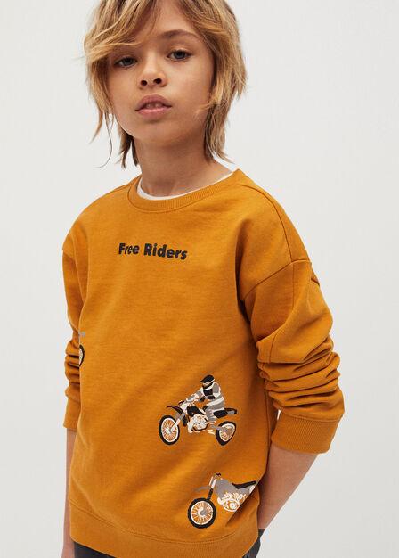 Mango - medium yellow Printed organic cotton sweatshirt