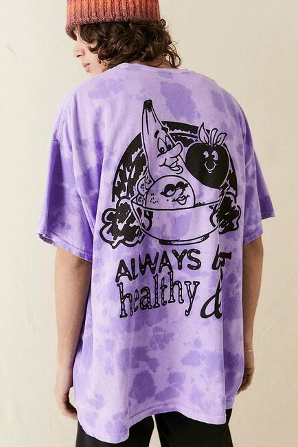 Urban Outfitters - Assorted UO Healthy & Happy Tie-Dye T-Shirt