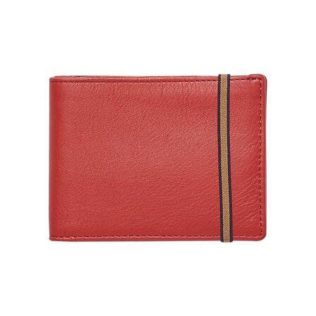 CARRE ROYAL - Carre Royal Portefeuille Porte-Carte En Cuir Leather Wallet Red