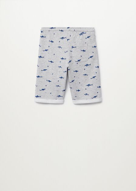 Mango - medium grey Printed organic cotton bermuda shorts
