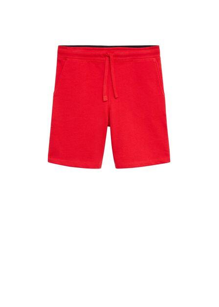 Mango - red Organic cotton jogging Bermuda shorts