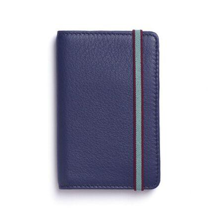 CARRE ROYAL - Carre Royal Porte-Carte Leather Wallet Blue