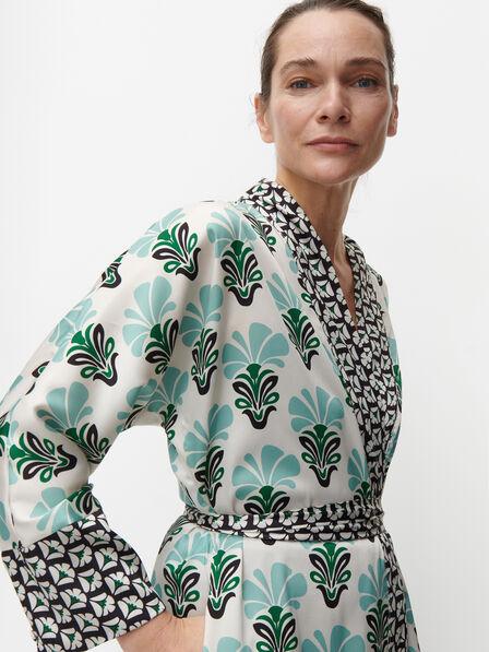 Reserved - Ladies' Kimono Dress - Multicolor