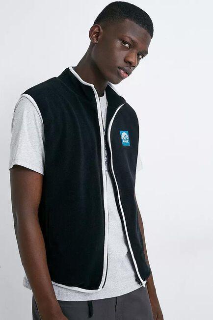 Urban Outfitters - Black Aprex Supersoft Black Polar Fleece Gilet