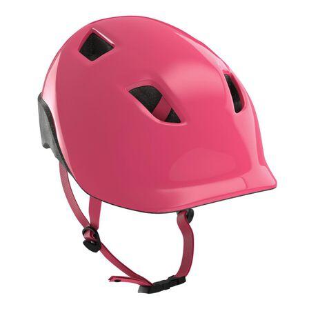 BTWIN - S/53-56cm  500 Kids' Cycling Helmet - Neon, Blush Pink
