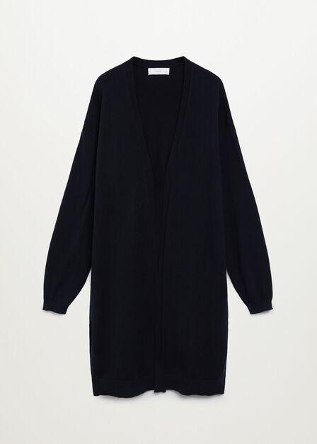 Mango - black Long cotton cardigan