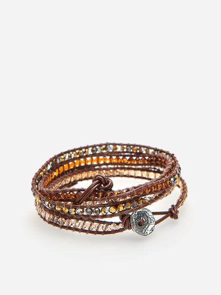 Reserved - Beaded bracelet - Beige