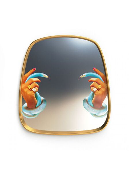 Seletti - Mirror Gold Frame Hands with Snakes