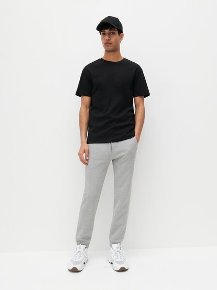Reserved - Slim fit jersey trousers - Light grey