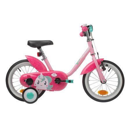 B TWIN - 500 kids' 14-inch bike (3-4.5 years) - unicorn