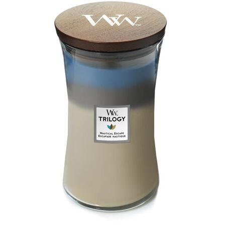 WOOD WICK - Woodwick Candle Trilogy Hourglass Nautical Escape [Large]
