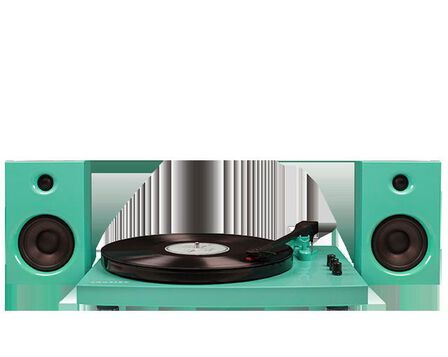 CROSLEY - Crosley T100 Turntable System Turquoise With Speakers [Pair]