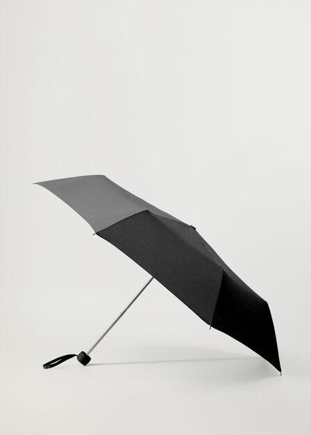 Mango - Black Plain Folding Umbrella