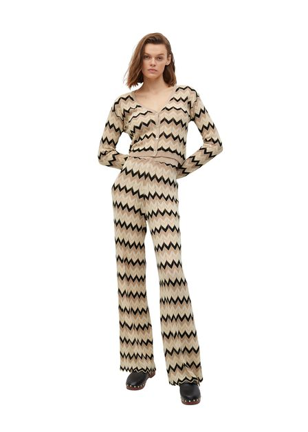 Mango - light beige Openwork knit cardigan, Women