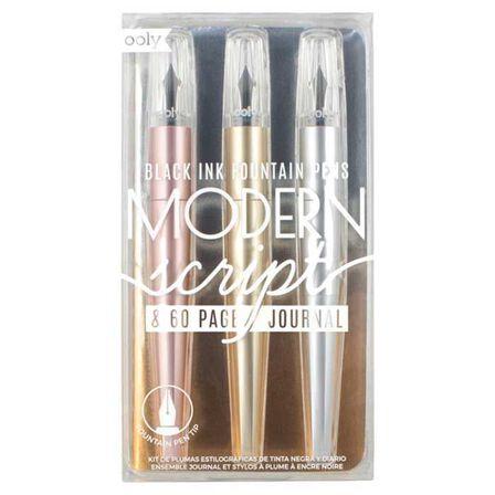OOLY - Ooly Modern Script Fountan Pen & Journal [Set of 4]