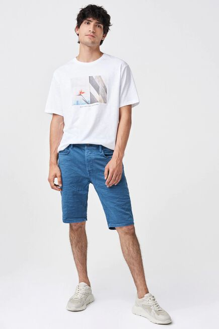Salsa Jeans - Blue Brandon loose mesh shorts