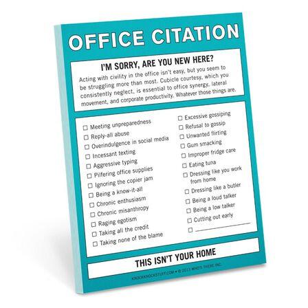 KNOCK KNOCK - Knock Knock Nifty Office Citation Sticky Notes