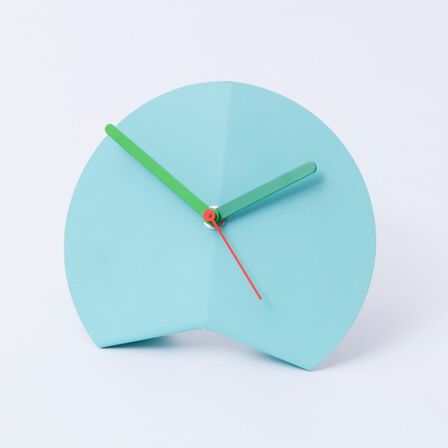 BLOCK - Block Origami Desk Clock Blue