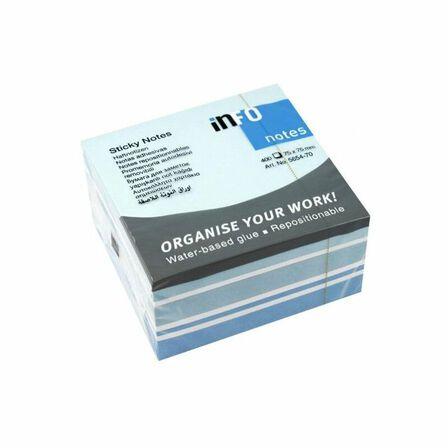 INFO - Info Mix Cube 400 Sheets 75X75 Assorted Blue