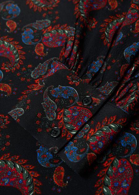 Mango - black Paisley print shirt