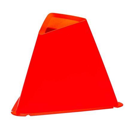 KIPSTA - 15 Cm Training Cones 6-Pack Essential - Fluo Blood Orange