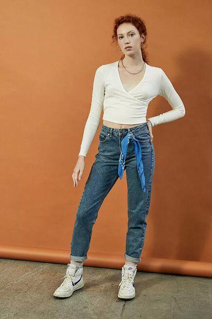 Urban Outfitters - Denim BDG Dark Vintage Wash Recycled High-Waist Mom Jeans, Women