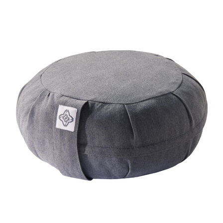 DOMYOS - Unique Size  Yoga & Meditation Zafu Cushion - Mottled Grey, Default