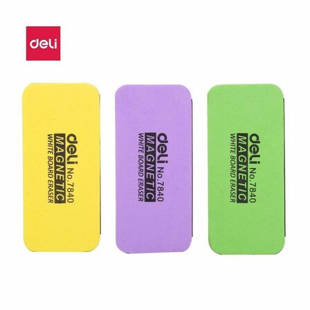 DELI - Deli White Board Eraser 110 x 50 x 30mm Assorted [Includes 1]