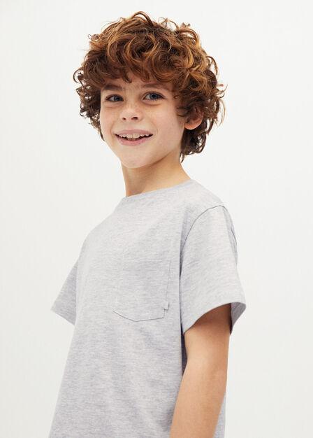 Mango - medium grey Organic cotton pocket t-shirt
