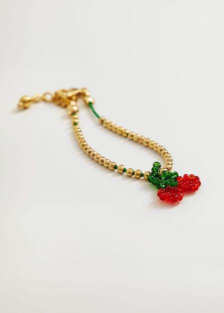 Mango - Gold Beaded Cord Bracelets, Kids Girl