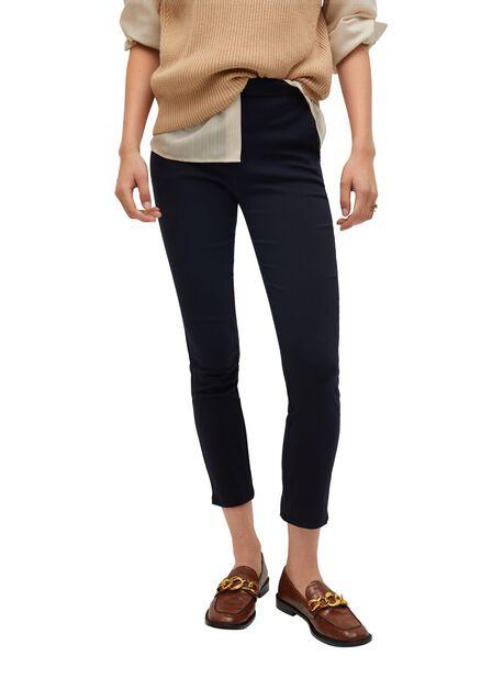 Mango - navy Crop skinny trousers