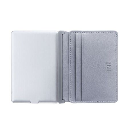 INE - Ine Wallet & Charger Recycled Leather Gray