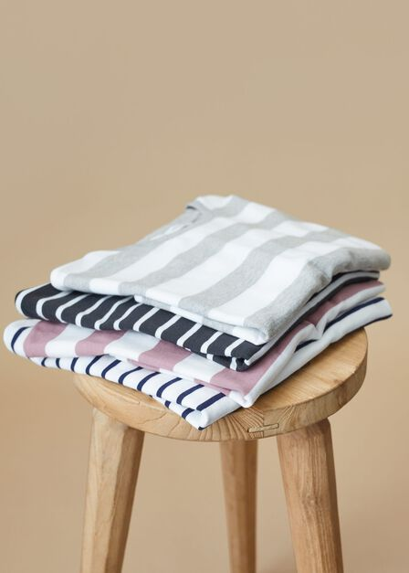 Mango - medium grey Striped long sleeves t-shirt