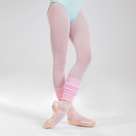 DOMYOS - Girls' Ballet And Modern Dance Leg Warmers - Candyfloss